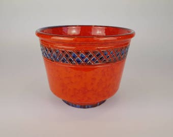 XL orange Italian planter