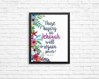 2018 Year Text Fine Art Print - Best Life Ever, JW Gift, Pioneer Gifts, Scripture Art, Wall Decor, Jehovah's Witnesses, JW org