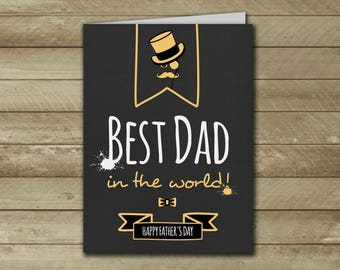 Happy Fathers Day Card, Day Greeting Father's Day Cards, Fathers Day Card For Dad, Paper Printable Cards, Gift for Dad, First Father's Day
