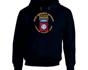 Army - 82nd Airborne Division - Ssi - Ranger Hoodie