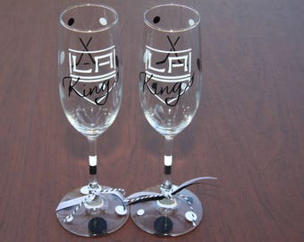 LA Kings Exclusive Glassware, Hockey Fan, Sports Glasses - Kings FAN!