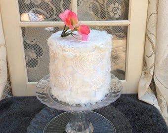 On SALE 2 tier cake stand, dessert stand, cupcake stand, wedding cake stand, pedestal cake plate, cupcake holder, wedding shower,