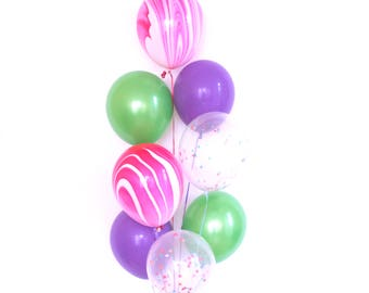 Spa Party Balloons (Set of 8)- Confetti Balloons - Spa Party Decorations- MakeUp Party - Makeup Party Decorations- Spa Birthday Party