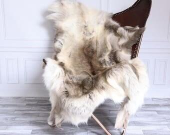 Reindeer Hide | Reindeer Rug | Reindeer Skin | Throw XL Large - Scandinavian Style #15RE20