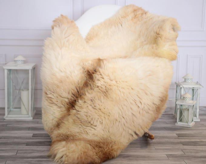 Sheepskin Rug | Real Sheepskin Rug | Shaggy Rug | Scandinavian Rug | Sheepskin Throw Beige Sheepskin | CHRISTMAS DECOR | #DECHER22