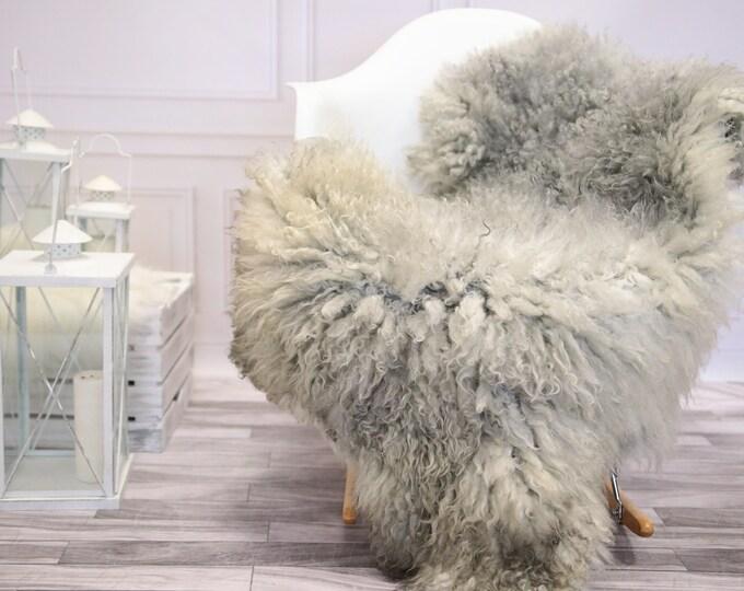 Genuine Rare Gotland Sheepskin Rug - Curly Fur Rug - Natural Sheepskin - Gray  Sheepskin #DECGOT5