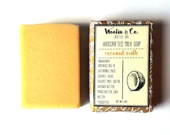 Coconut Milk Unscented Handmade Soap