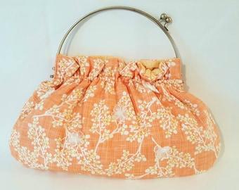 Oversized Cherry Blossom Vintage Purse/ Handbag/Top Handle Bag