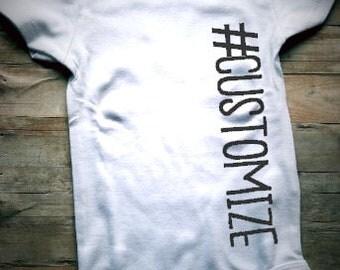 Hashtag  Bodysuit - Unisex Baby Clothing - Newborn Clothing - Baby Clothing - Hashtag Baby Outfit - Custom Baby Clothing