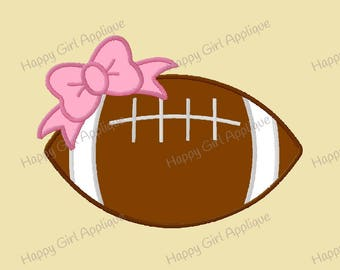 Football with a Bow Applique