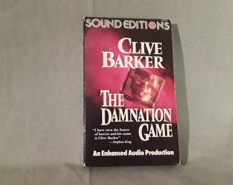 Clive Barker Book On Tape Cassette Set, The DAMNATION GAME Audiobook Set, WW2, Books of Blood, Hellraiser Horror Author