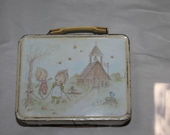 Vintage BETSY CLARK Metal Lunch Box 1973 Hallmark Cards, w Original Thermos and Lid to Thermos, Good Shape for Vintage, Pictures still Good