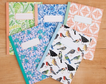 Set of 3 A5 Notebooks | Notebook Pack | Patterned Notebooks | Journal | Notepad | Notebook Collection
