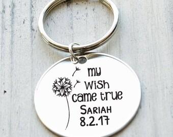 Dandelion Wish Personalized Key Chain - Engraved