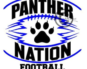 Panther Football Svg, Panther Nation Football Svg, Football Svg , Football Dxf