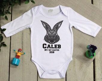 Personalised 1st Easter Bodysuit - Aztec Bunny