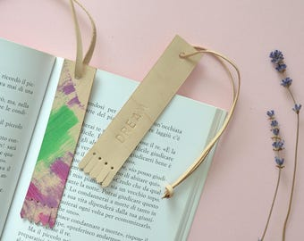 Personalized bookmark - Leather bookmark with fringe tassels / book accessories custom bookmark travelers notebook accessories custom made