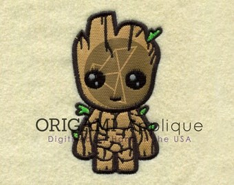 little groot applique Design for Embroidery machines in 5x7 - Instant Download