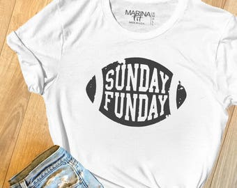 Sunday Funday, football, sunday funday shirt, football t-shirt, football mom, game day shirt, gift for her, sunday funday tank,  S017