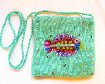 Beaded Fish Purse for Fun and Evening Wear