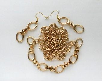 S Links Earrings Necklace