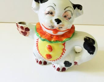 China Figurine Teapot, Bonzo Dog- Character,  Miniature Teapot