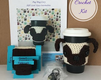 Pug Crochet Pattern - Amigurumi Kit - Crocket Starter Kit - Crochet Kit - Crochet Pattern Dog - Crochet Dog Pattern - Dog Crochet Pattern