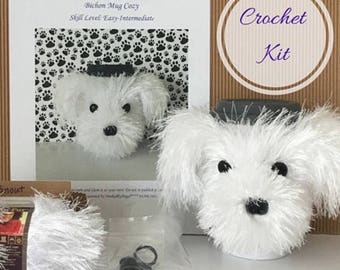 Crocheting Kit, Dog Crochet Pattern, Crocket Kit, Amigurumi Kit, Crochet Gifts, Crochet Pattern Dog, Crocheter Gift, Crochet Dog, DIY Kit