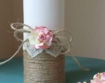 Rustic Wedding candles, Unity Candle Set Wedding Candle Set Rose Wedding Unity, Church ceremony set