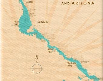 Lake Havasu CA AZ Map - Canvas Print