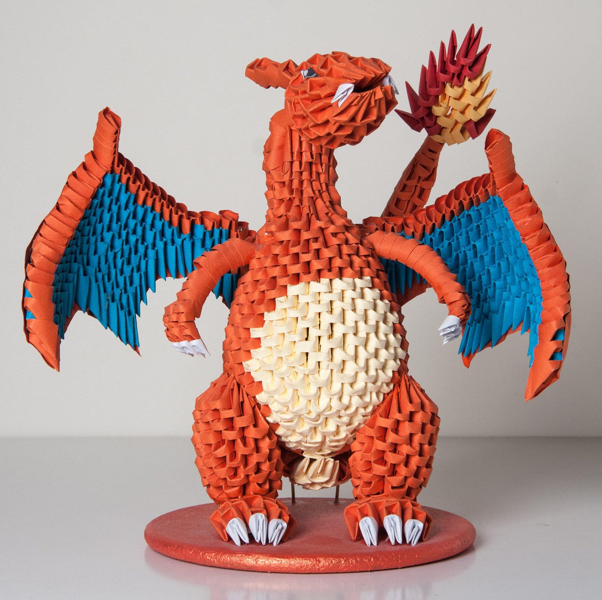 3D ORIGAMI CHARIZARD POKEMON - photo#21