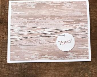 Barnwood Thank You Card