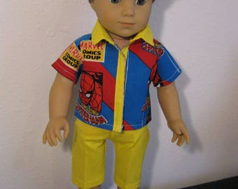 Boys Spiderman Shirt, shorts and shoes