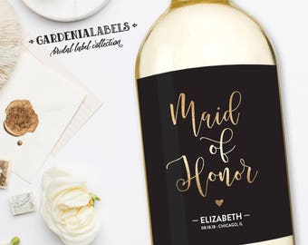 Bridesmaid Wine Label, Will you be my bridesmaid, Maid of Honor Proposal, Bridesmaid Thank You Champagne, Ask Maid of Honor, Bridesmaid Gift
