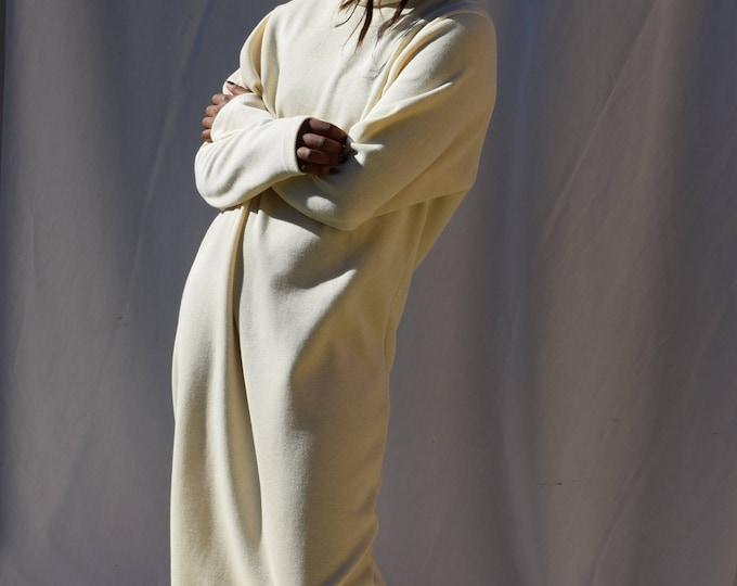 Cream Turtleneck Sweater Dress.