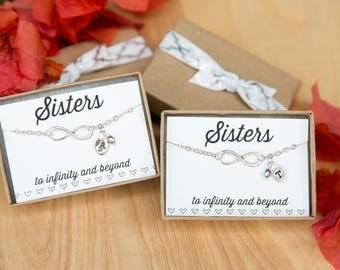 Sisters Infinity Bracelets, Custom Infinity, Infinity Pendant, Three Sisters, Infinity Charm, Infinity Charm Bracelet, Personalized Jewelry