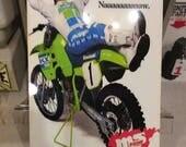 Retro Vintage Reproduction Motocross Racer KX500 Motorcycle Dirt Bike Racer Metal Garage Man Cave Sign