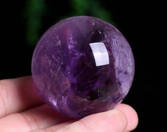 Amethyst Crystal Sphere Healing/Natural Amethyst Quartz Crystal Sphere Healing W001