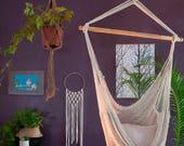 Macrame swing chair, hammock chair indoor, boho hammock, 100% cotton, single macrame hammock, swing chair