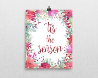 This The Season Print - Christmas Wall Art - Christmas Decor - Xmas Print - Christmas Quote - Typography Quote - Christmas Decorations