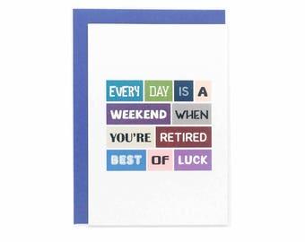 Retirement Card | Coworker | Colleague | Happy Retirement | Congratulations | Good Luck | Leaving | Blank | SE0031A6