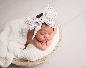 DOTTIE Gorgeous Wrap- headwrap; fabric head wrap; polka dot head wrap; boho; newborn headband; baby headband; toddler headband