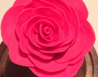 Beauty and the Beast Rose, Wedding cake topper, Rose in glass, Rose in Dome, Enchanted Rose, Disney,  Pink Rose, forever rose, Sale