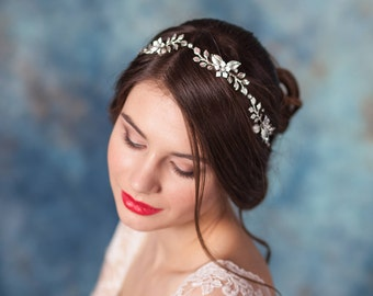 Bridal hair vine Wedding hair vine  Bridal hair pins Bridal headpiece Grecian leaf vine Laurel leaf vine Bridal leaf headband Greek vine