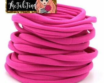 Rosey Nylon Headband | One Size Fits All Headband | THIN Soft Nylon Headband for baby and adults| Premium Infant & Baby Headbands | BULK