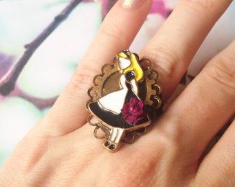 Ring adjustable dark Alice