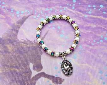 Unicorn Bracelet, Unicorn Jewellery, Fantasy Jewelry, Unicorn Magic, Rainbows, Unicorn Gift, Sparkly Bracelet, Crystal Bracelet, Unicorns