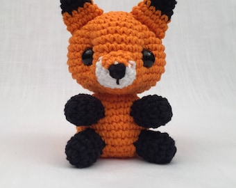 crochet amigurumi Fox toy, Stuffed Toy, Plush, Plushy, Stuffed Animal, Toy, Stuffed fox, baby toy, Baby Shower Gift, crochet amigurumi fox