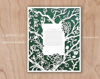 Garden Lush - Papercut Ketubah
