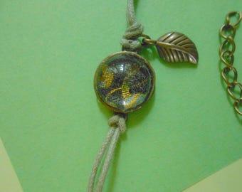 Fragment of green - handmade